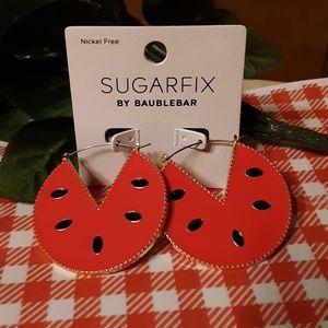 Watermelon Enamel Earrings